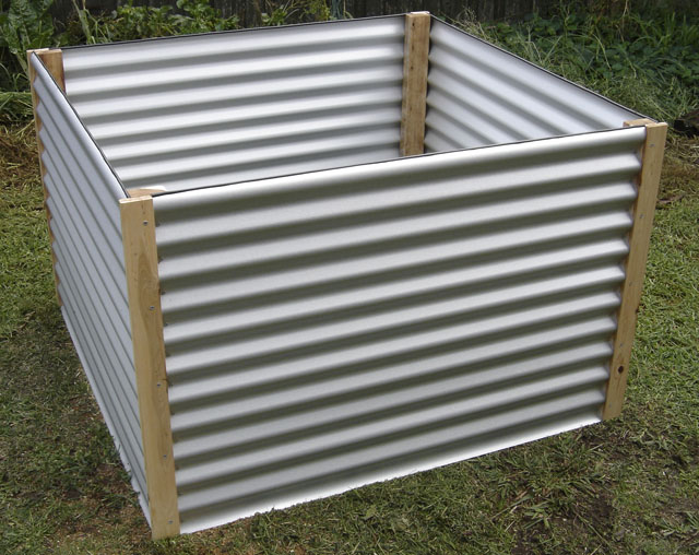 Corrugated Metal Raised Bed Garden Boxes ...
