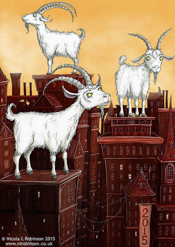 © Nicola L Robinson 2015- Year of the Goat - Illustration