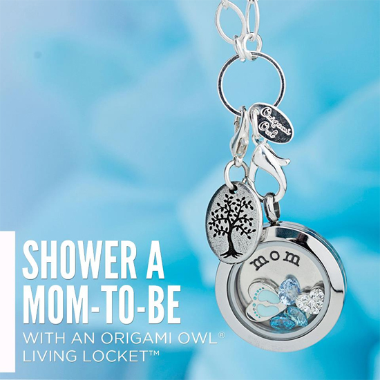 New Mother Baby Boy Origami Owl Living Locket from StoriedCharms.com
