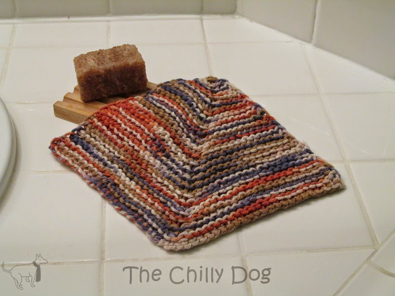 Knit Pattern: Mitered Washcloth | The Chilly Dog