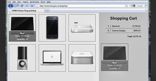 Implementing HTML5 Drag and Drop