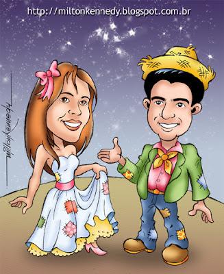 Caricaturas para casamentos