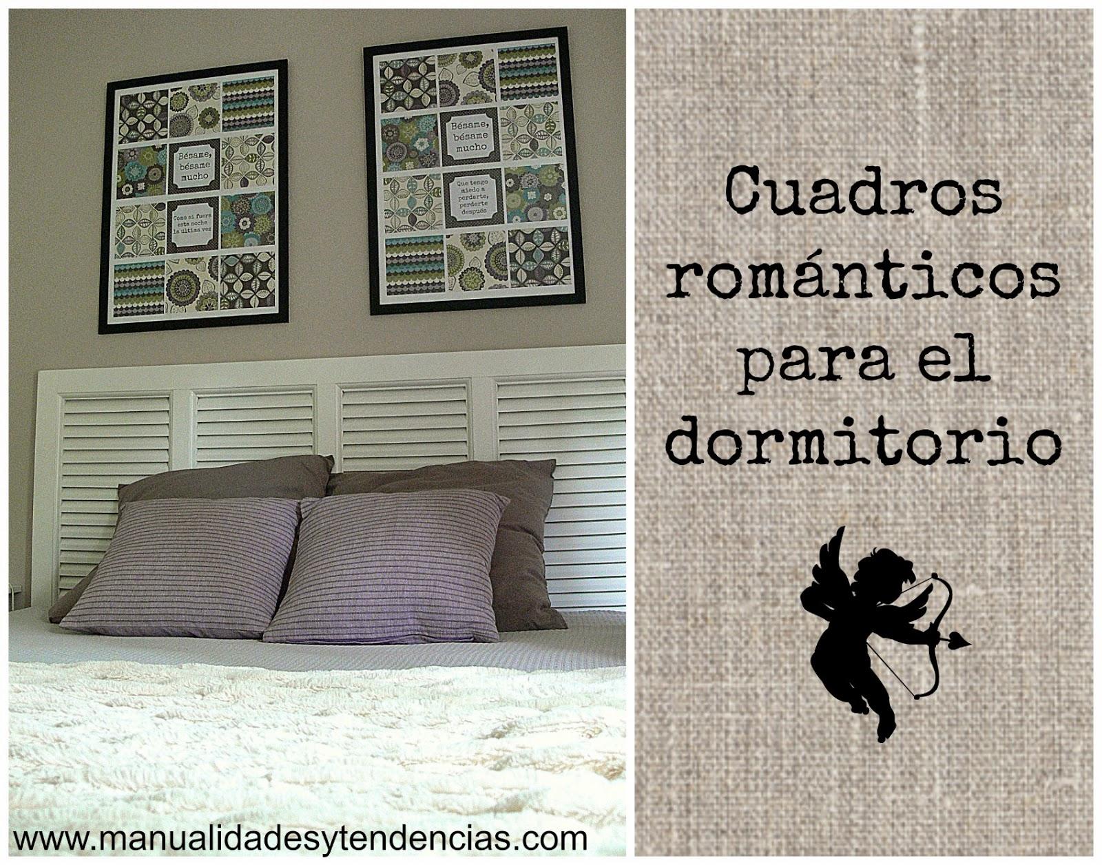 Cuadros románticos DIY para dormitorio