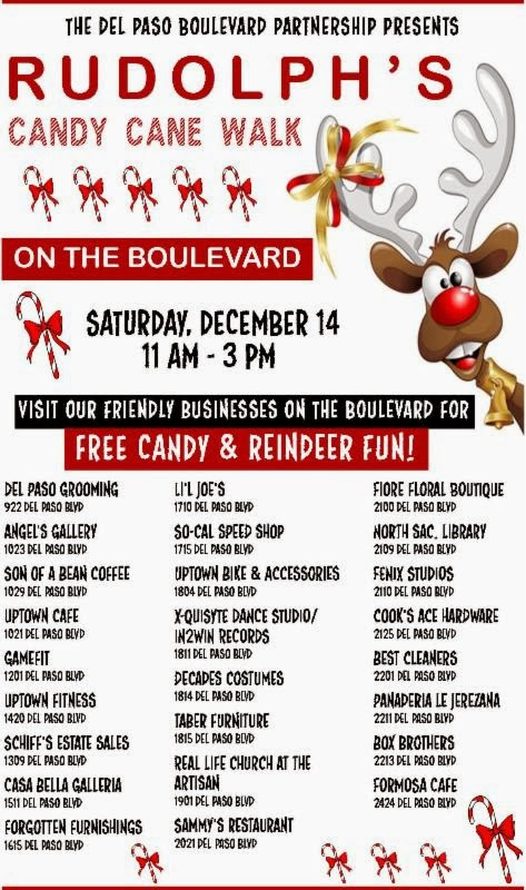 Rudolph brings candy canes to Del Paso Blvd this weekend