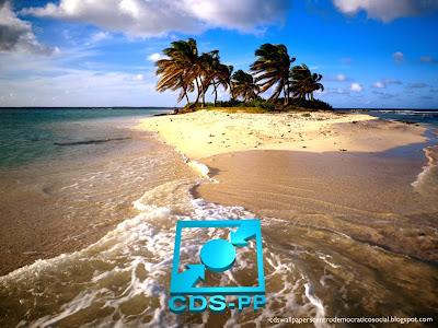 Papel de parede do Partido Centro Democrático Social emblema Stencil Inclinado do CDS-PP Ilha Bonita para utilizar como fundo de tela do seu ambiente de trabalho