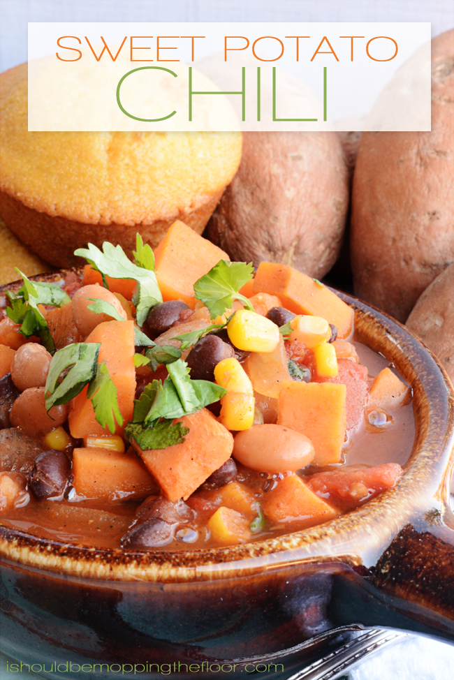 Sweet Potato Chili Recipe | Only 8 points per generous 1 1/2 cup serving