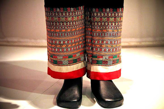 embroidered Vietnamese hill tribe trousers,