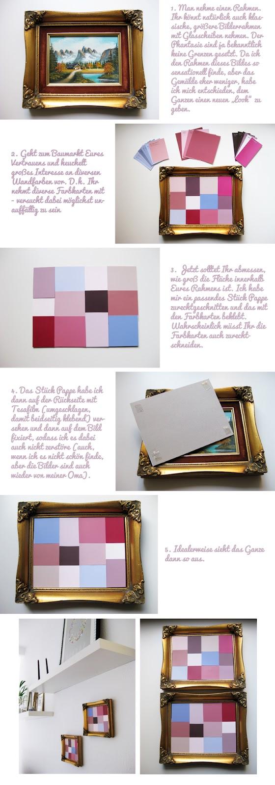 piepmatz: DIY: Farbkarten im Rahmen.