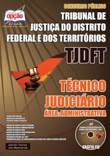 apostila concurso TJDFT 2015 impressa Analista e Técnico Judiciário Área Administrativa download e pdf.
