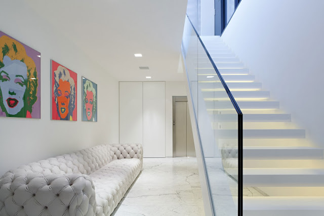 White sofa in the hallway