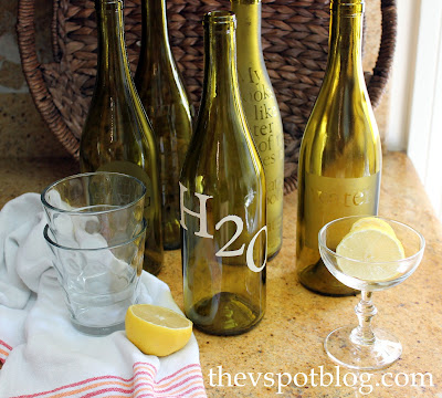 How to make etched glass and hand painted water bottles