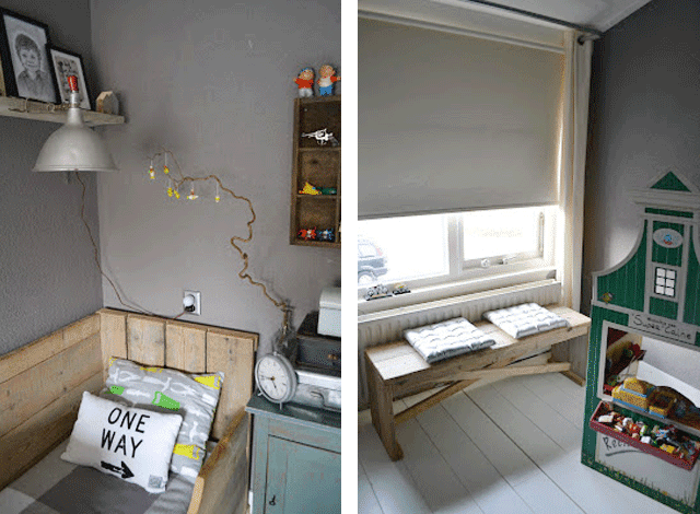habitacion-infantil-nino-banco-madera-gris