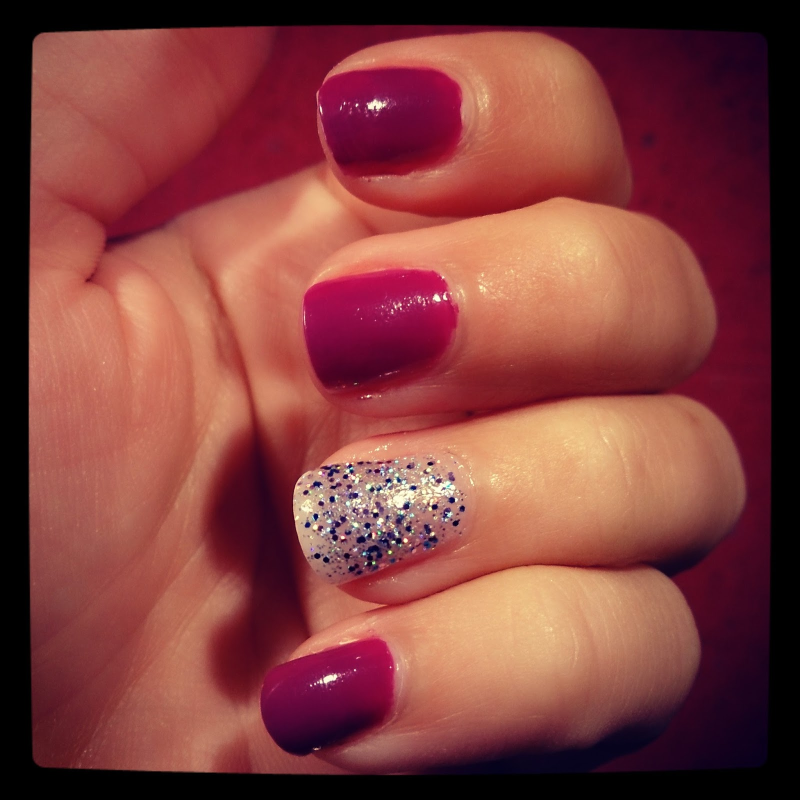 barry m rimmel nail blog purple glitter polish varnish