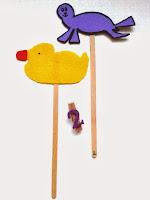 Marionetas de patito de goma y de foca ©Selene Garrido Guil