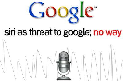 Siri vs Google image