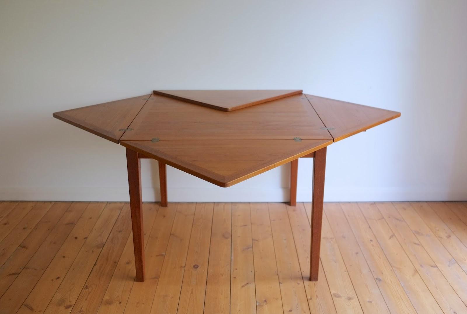 model 38 expanding teak dining table made by slagelse mobelvaerk
