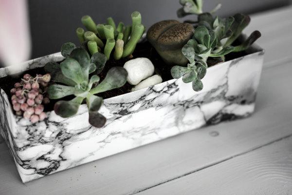 DIY Marmor Pflanzschale