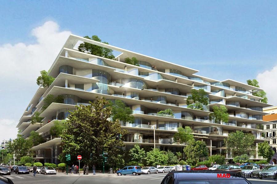 Roma fa schifo vi piace il grande progetto immobiliare di for Architettura residenziale contemporanea