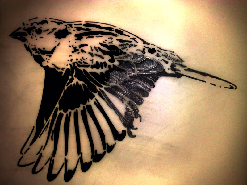 Black sparrow tattoos - photo#24
