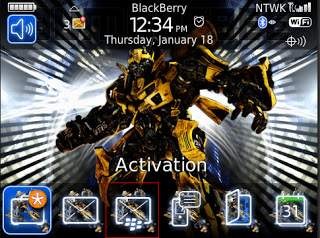 Theme Name : Blackberry Bold 9700 Free Bumblebee Theme