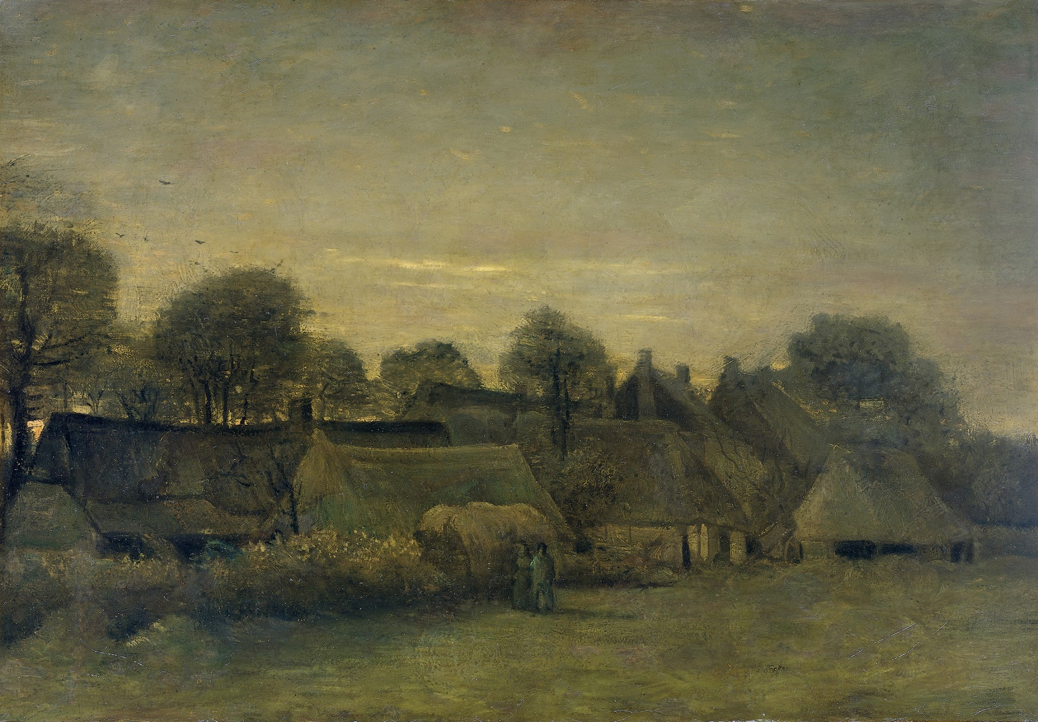 Village at Sunset by Vincent van Gogh