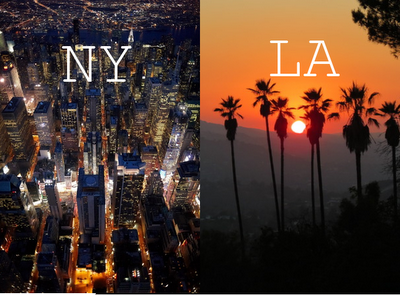 Нью Йорк или Лос Анджелес