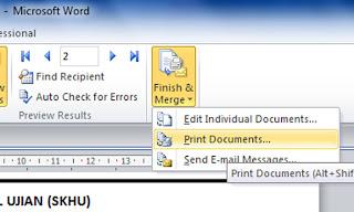 Mudah membuat Mail Merge