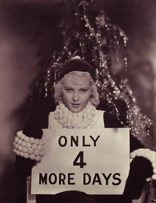 June Lang posed with a sign for Christmas, ca. 1930s ~ vintage ...