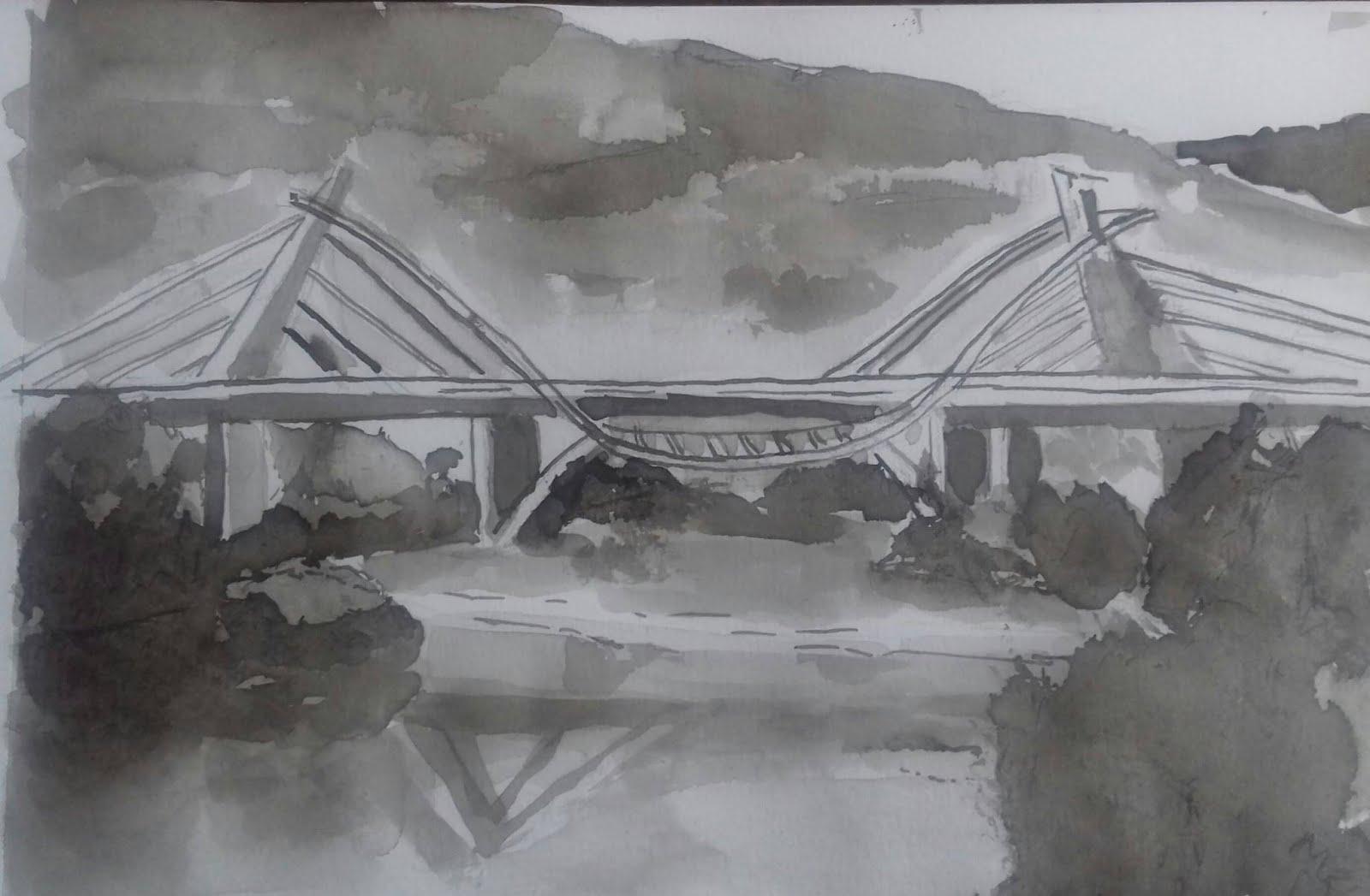 Puente del Milenium sobre el Sil en Ourense