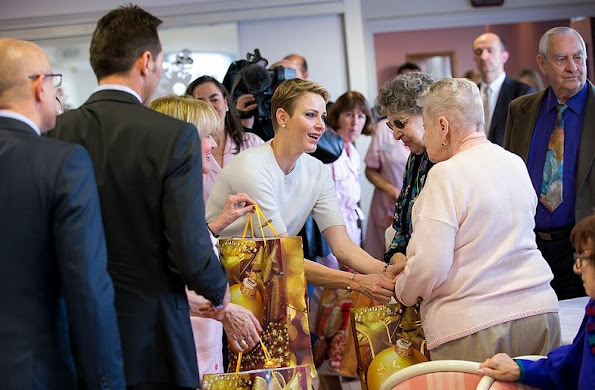 Princess Charlene of Monaco visited the Bellando de Castro and Giaume homes, as part of the Christmas programme of the Hector Otto Foundation