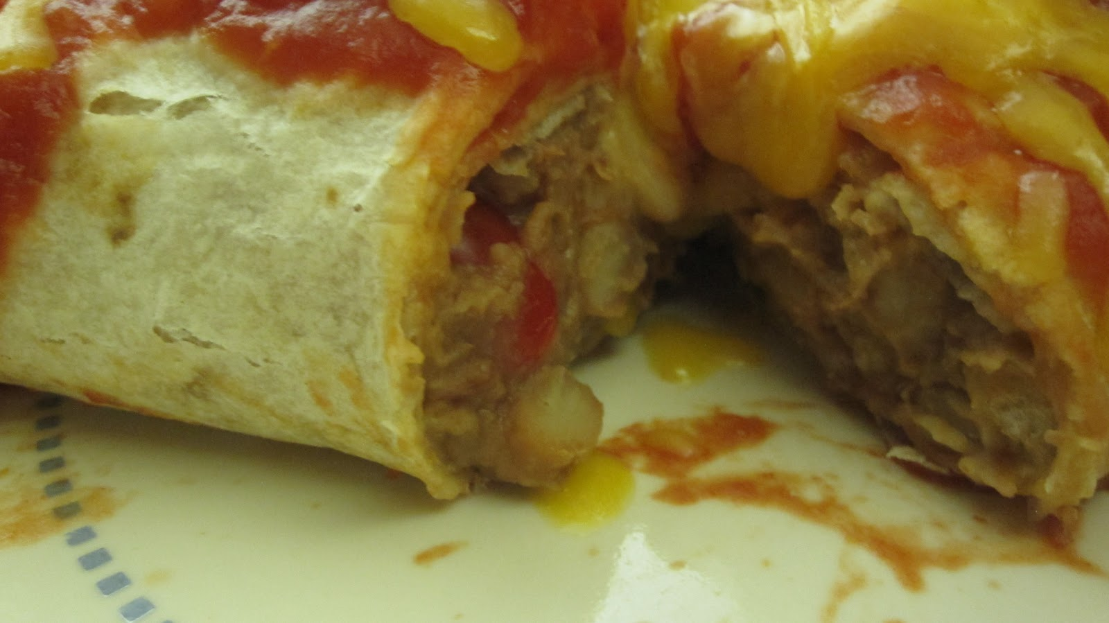 MzTeachuh: Meatless Monday: Bean and Cheese Burritos