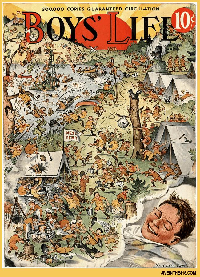 """Boy's Life"" boy scout magazine cover circa 1910"