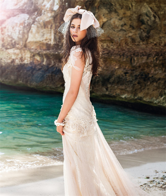 Spanish Beach Wedding Dresses   affordablebridaldress