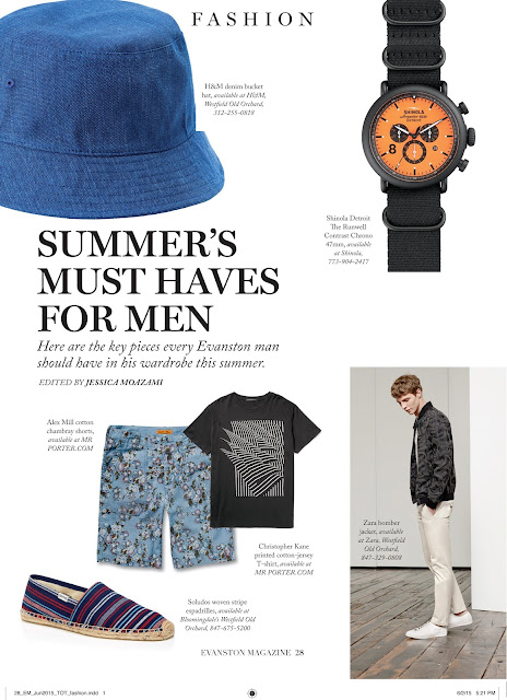 Summer's Must Haves for Men 2015 for Evanston Magazine by Jessica Moazami