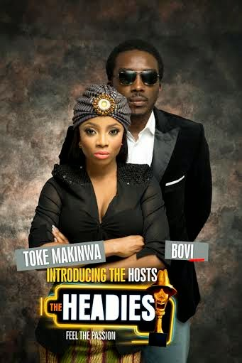 Watch Out For Bovi and Toke Makinwa As Hosts For This Year's Headies Awards – Promo Photos