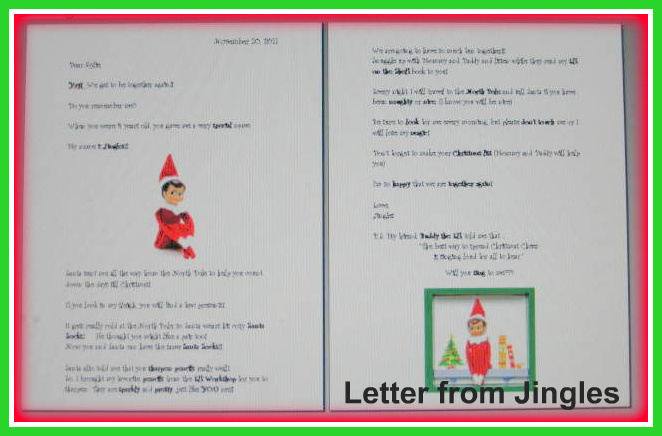 His Treasured Princess: Jingles (Our Elf on the Shelf) is back!!