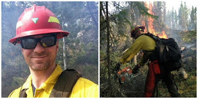 Chris Merritt, BLM Wyoming's Wind River/Bighorn Basin District Firefighter of the Year.