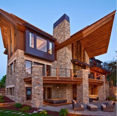 Fachadas de casas de lujo dise o l neas y estilos fotos for Tipos de tejados de casas