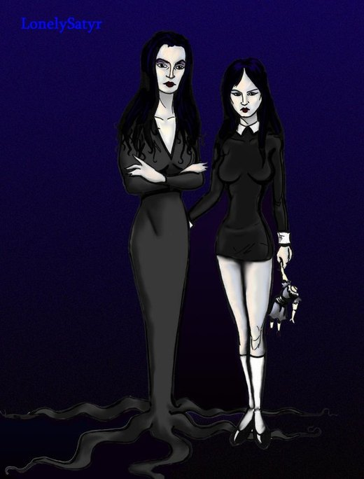 The Addams Women por Lonelysatyr