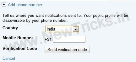 Mobile Number In Google Plus