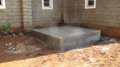 Campleted Water Tank Plinth