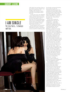 Hot and Sexy Sunny Leone in FHM India May 2012- Posing in front of mirror