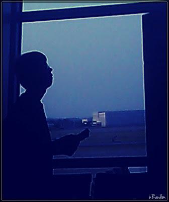teen flying alone