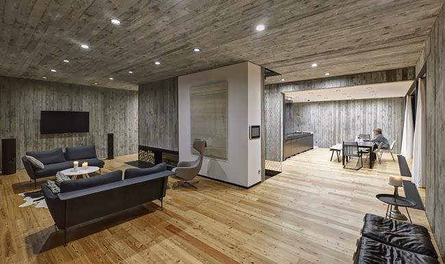 Casas minimalistas y modernas casa moderna de hormigon y for Casa moderna madera
