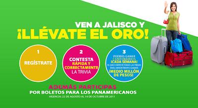premios centenarios $500000 quinientos mil pesos, entradas pases boletos juegos panamericanos guadalajara jalisco 2011