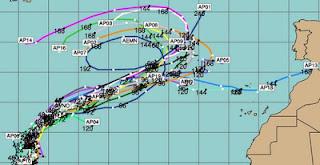Pot. Tropischer Sturm TONY zieht voraussichtlich zu den Azoren, Tony, Atlantische Hurrikansaison, Azoren, aktuell, Vorhersage Forecast Prognose, Oktober, 2012, Hurrikansaison 2012,
