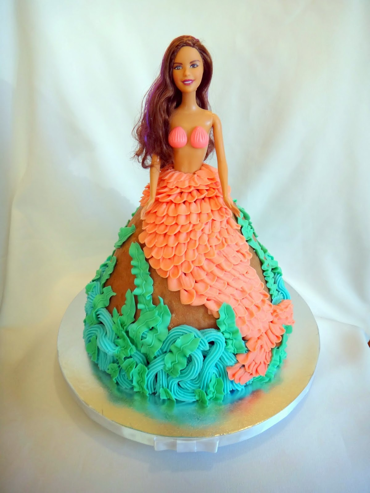 Barbie Mermaid Cake Images : Pin Barbie Mermaid Cake Ideas And Designs Cake on Pinterest