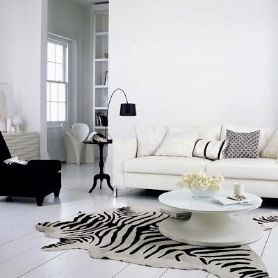 decoración de sala blanca