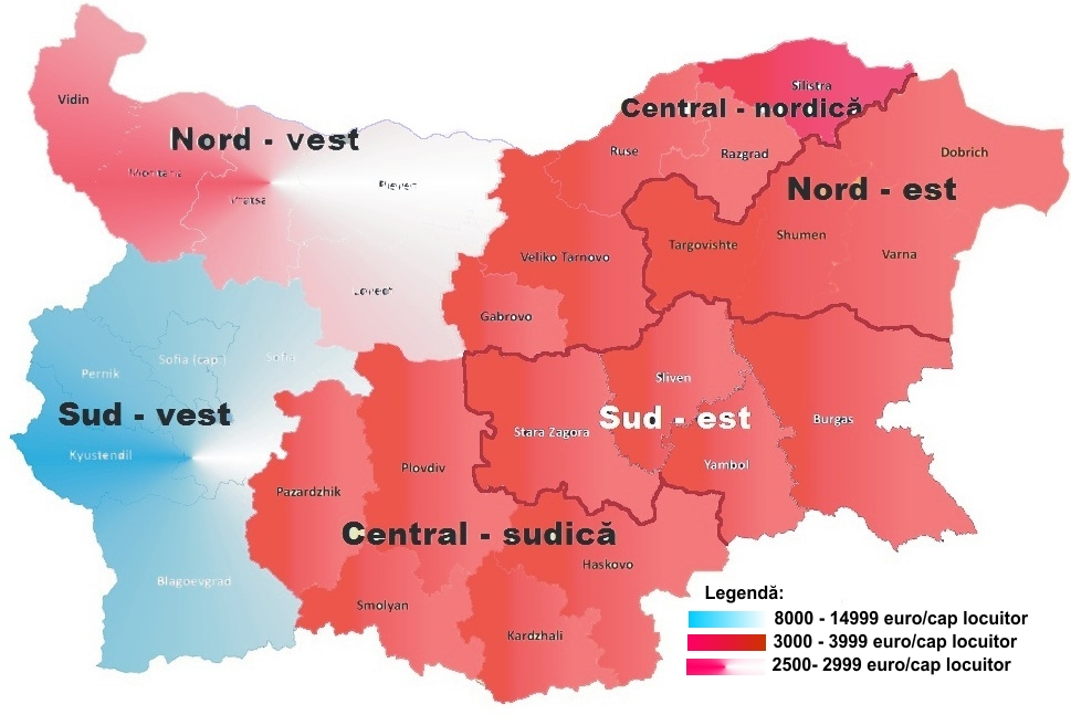Pib-ul pe cap de locuitor în Bulgaria
