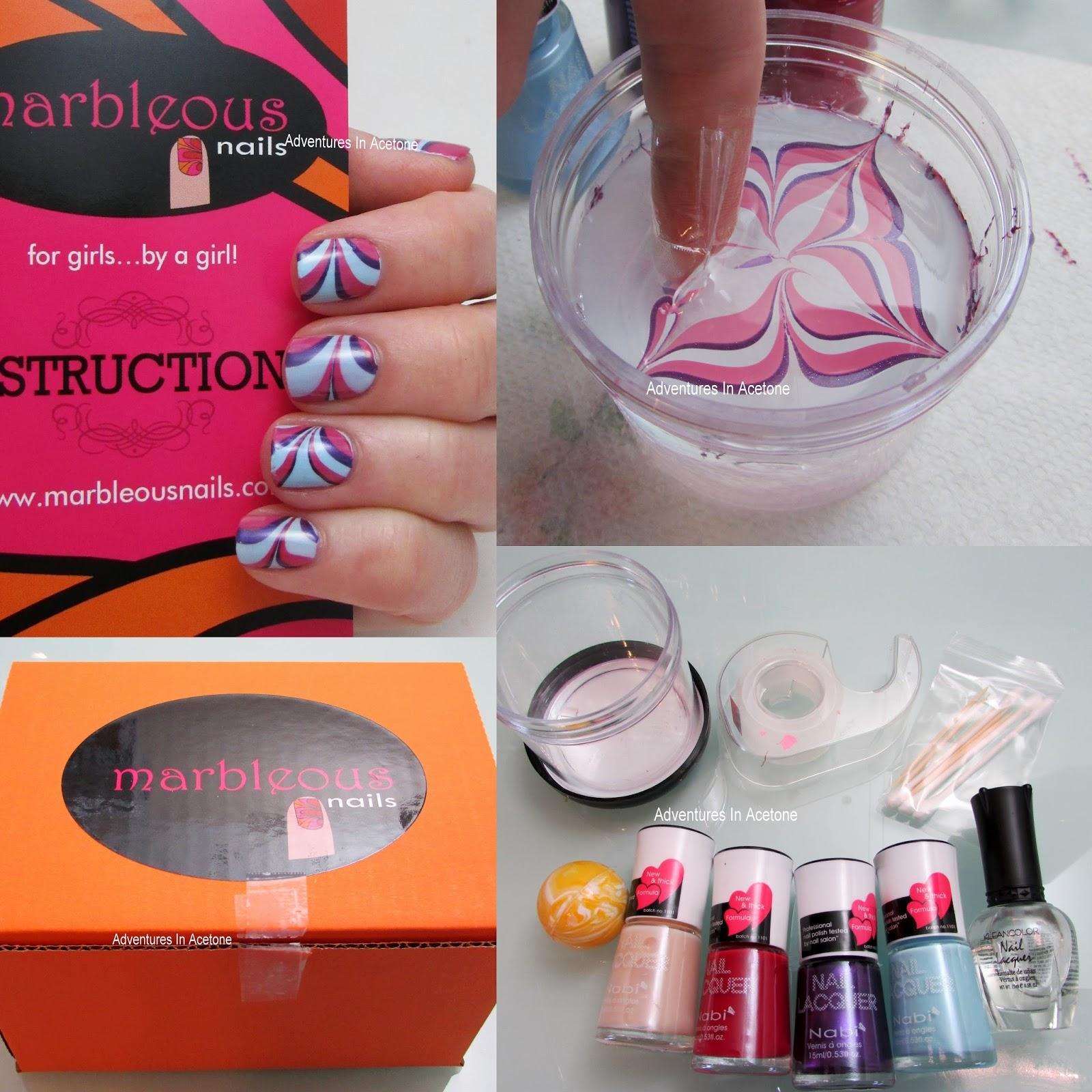 Enchanting Nail Marbling Kit Vignette - Nail Art Ideas - morihati.com